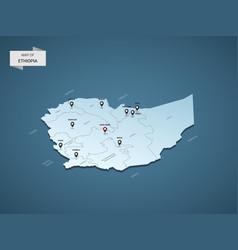 isometric 3d ethiopia map concept vector image