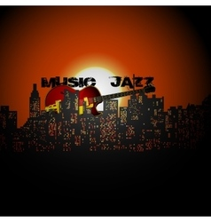 Jazz the city vector
