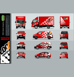 logistic company layout offers for your business vector image