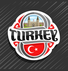 logo for turkey country vector image