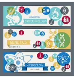 Medical and health care horizontal banners vector image