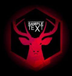 Mystical red deer vector