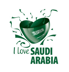 National flag saudi arabia in shape of vector