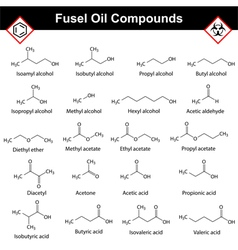 Organic compounds of fusel oil vector