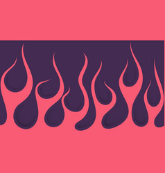 Pink and purple fire vector