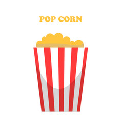 pop corn prepared maize seeds with flavor icon vector image