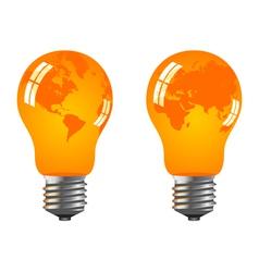 Power saving bulbs vector