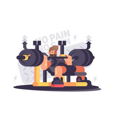 Powerlifting athlete in competitions vector