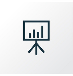 Presentation board outline symbol premium quality vector