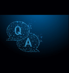 Question amp answer bubble chat form lines vector