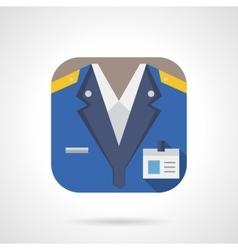 Railway staff flat color design icon vector