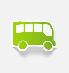 Realistic design element bus vector