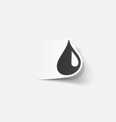 Realistic design element drop vector