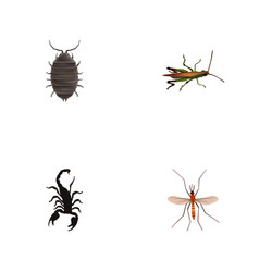 Realistic poisonous dor gnat and other vector