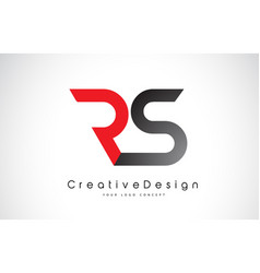 Red and black rs r s letter logo design creative vector