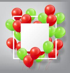 Redgreenballoon vector