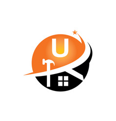 restorations and constructions initial u vector image