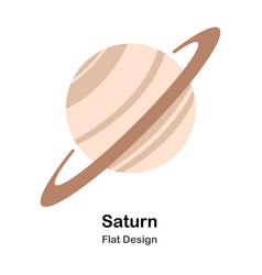 Saturn flat vector