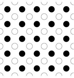 Seamless abstract monochrome polka dot pattern vector