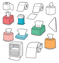 Set of tissue paper vector