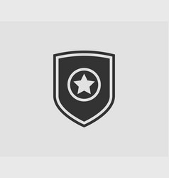 Shield logo with star icon vector