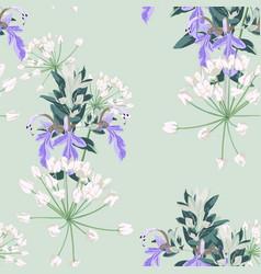 silver colorful succulent echeveria pattern vector image