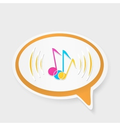 speech bubble with notes vector image