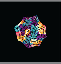 Spiderweb abstract colorful triangle geometrical vector