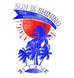 sun is shining vector image