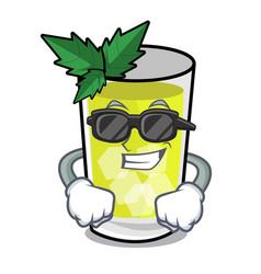 Super cool mint julep character cartoon vector