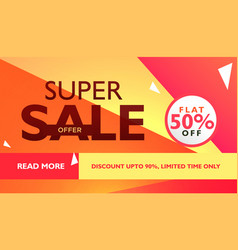 Super sale offer template for advertising with vector