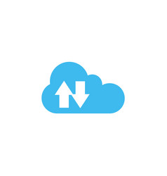 synchronization cloud icon design template vector image