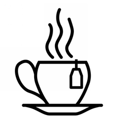 Tea cup linear icon vector image