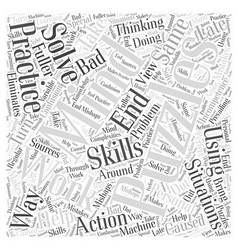 The mind puzzles in action word cloud concept vector