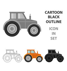 tractor icon of for web and vector image