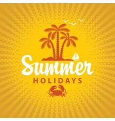 Travel banner summer vacation vector