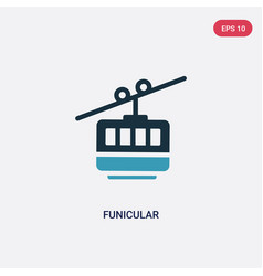 Two color funicular icon from summer concept vector