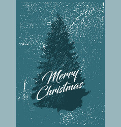 typographic christmas greeting card vector image