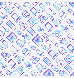 Using devices seamless pattern vector