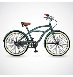 Vintage bicycle - vector image