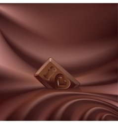 Wavy choco background melted chocolate vector