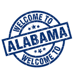 Welcome to alabama blue stamp vector