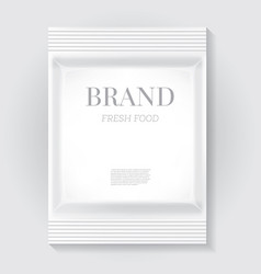 White blank food snack bag with copy space vector