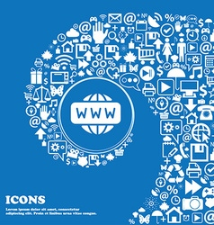 Www icon sign nice set of beautiful icons twisted vector
