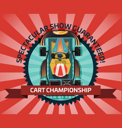 cart championship or auto competition concept vector image