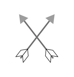 indian arrow isolated icon vector image