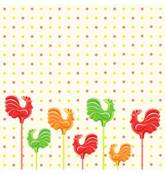 Lollipop cocks background vector image