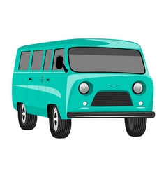 retro vintage travel camper van vector image
