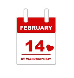 Valentine s Day Calendar vector image vector image