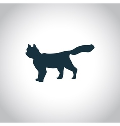 Cat simple icon vector image